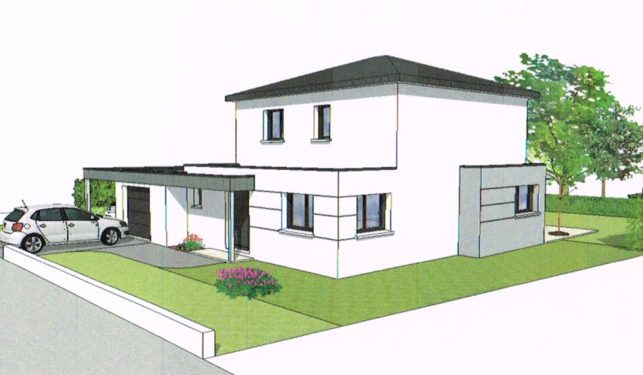 Maison-Individuelle-Plan-perspective-nord-ouest